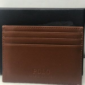 New Polo Money / Credit Card Case Genuine Leather